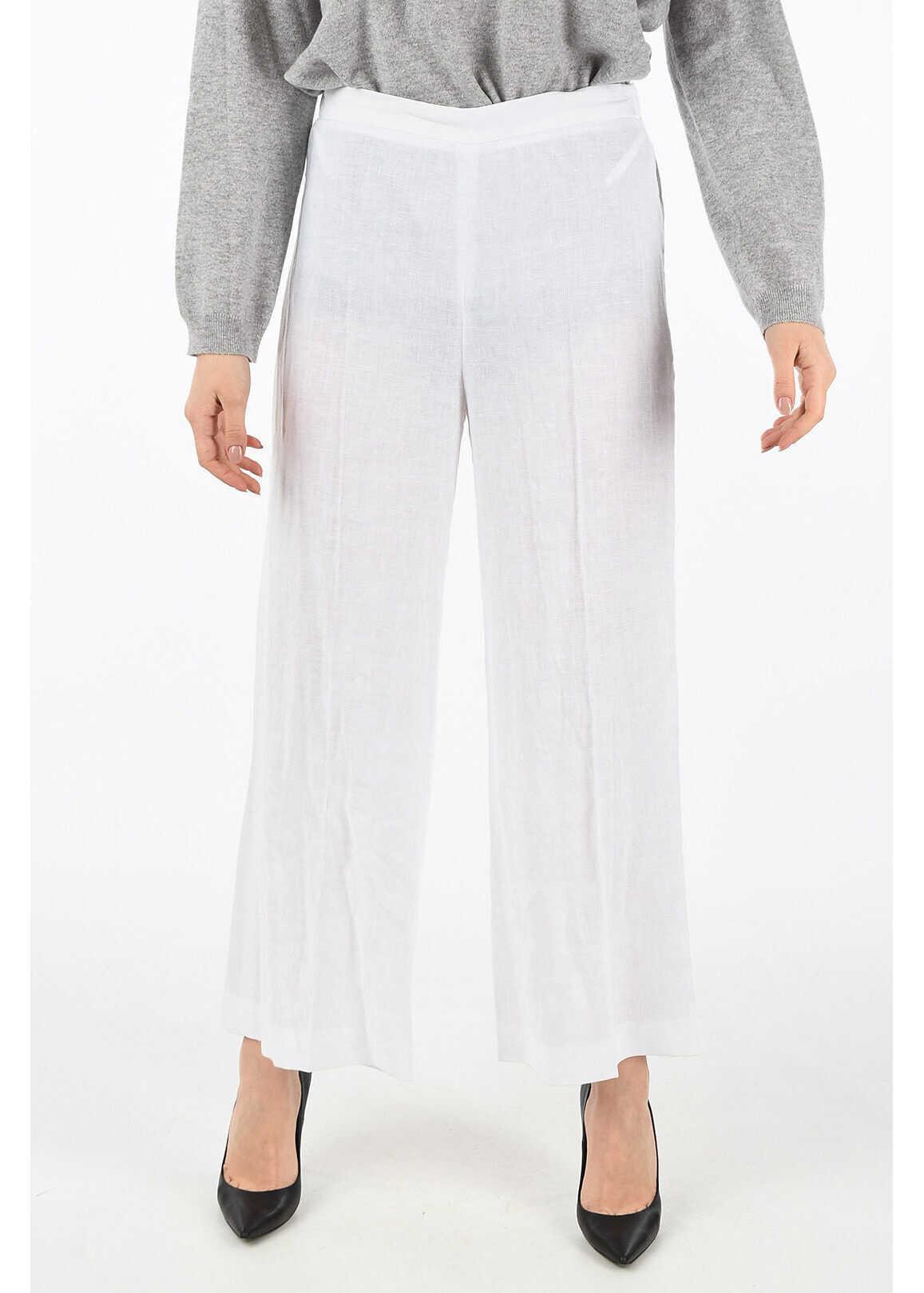 Fabiana Filippi flax pants WHITE