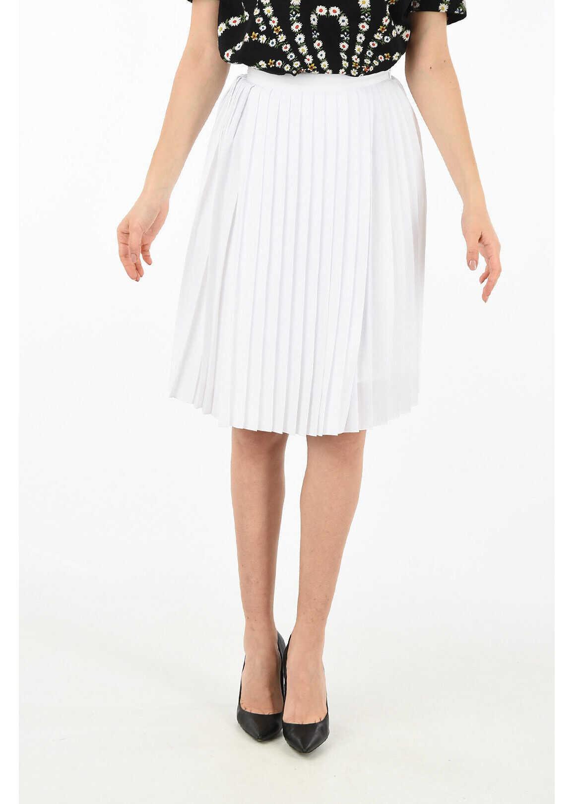 Burberry accordion skirt WHITE