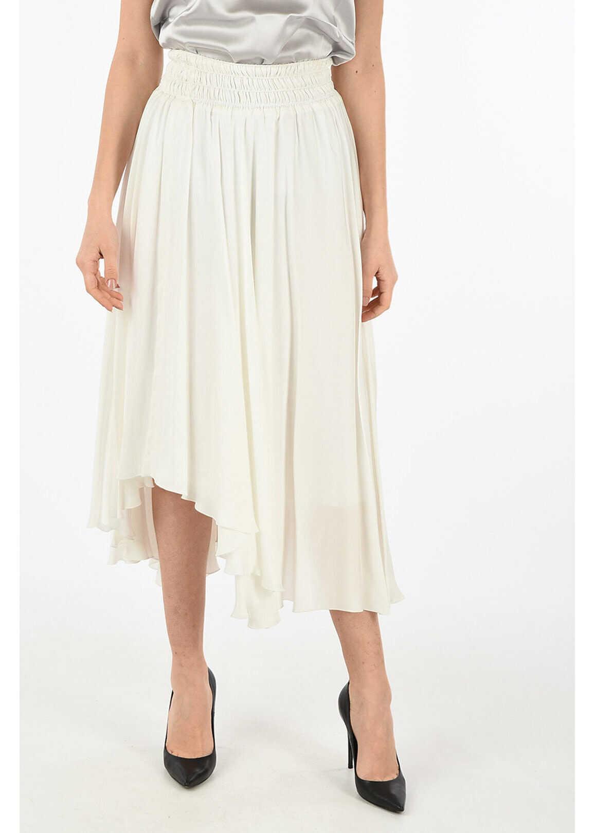 Fabiana Filippi asymmetrical skirt WHITE