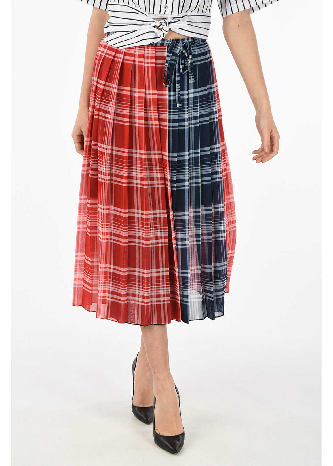 Tommy Hilfiger COLLECTION checked wrap madras skirt MULTICOLOR