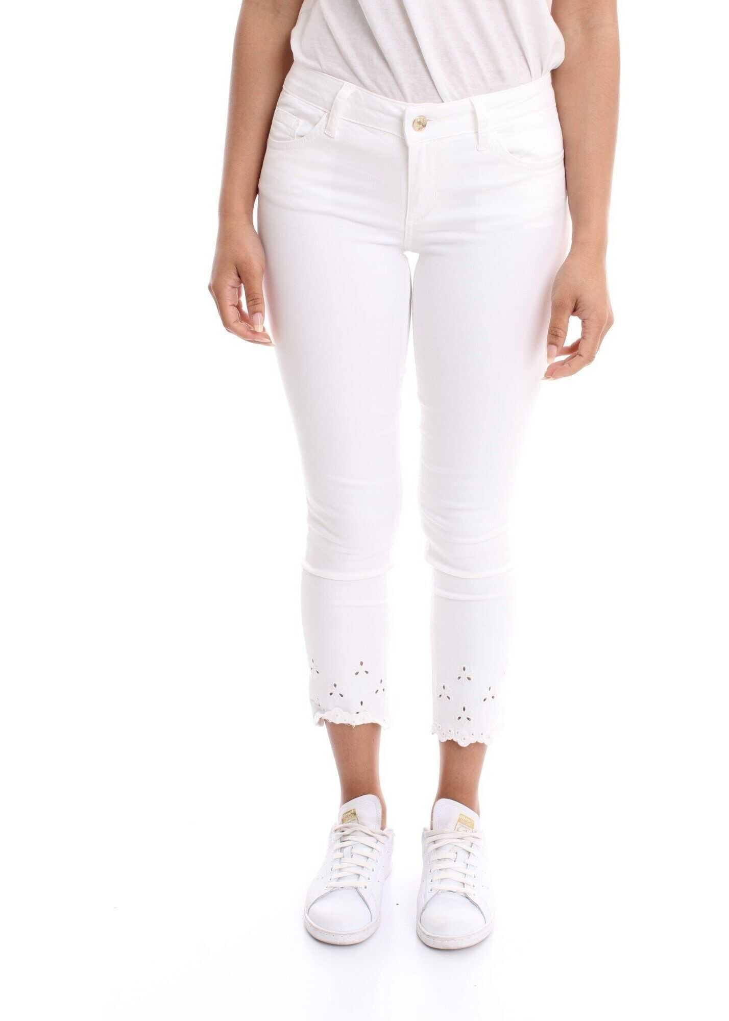 Liu Jo Cotton Pants WHITE
