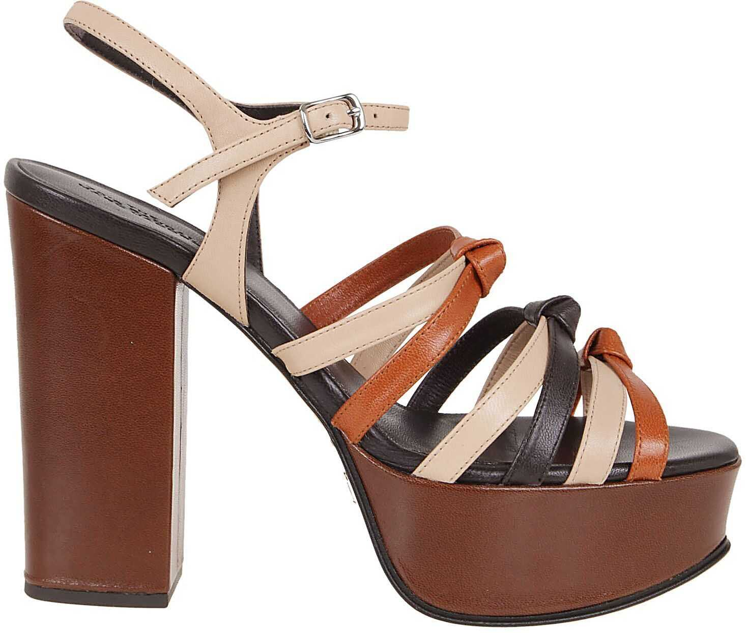 Marc Jacobs Leather Sandals BEIGE