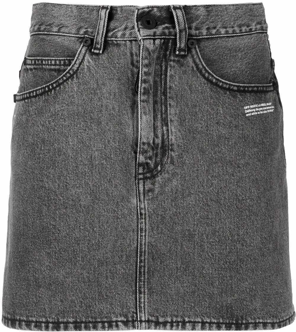 Off-White Cotton Skirt GREY