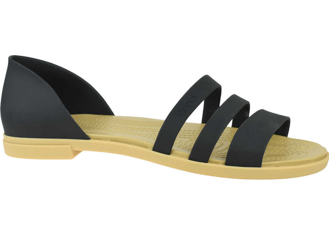 Crocs Tulum Open Flat W Black imagine b-mall.ro