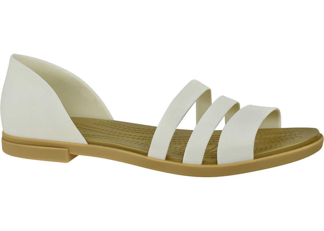 Crocs Tulum Open Flat W White imagine b-mall.ro