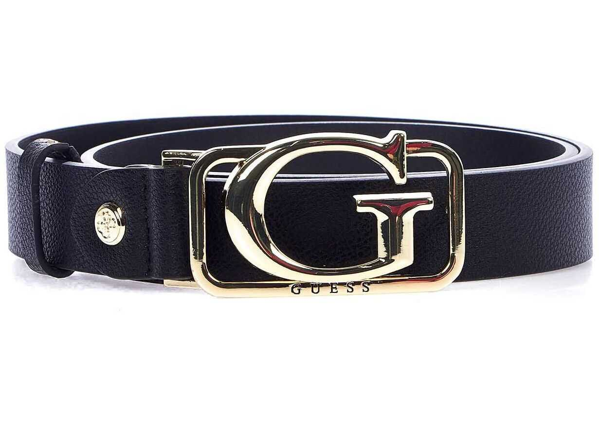 GUESS Belt with logo buckle Black