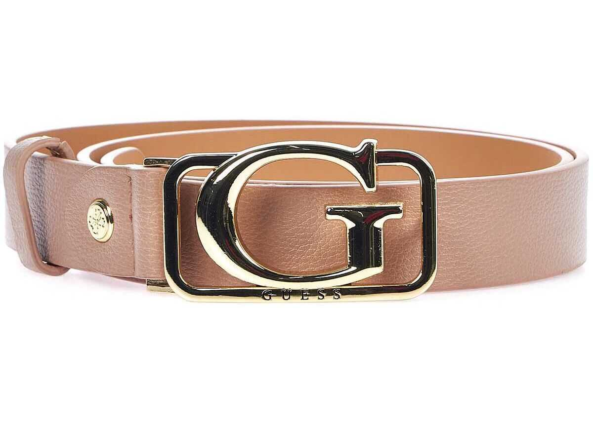 GUESS Belt with logo buckle Rose