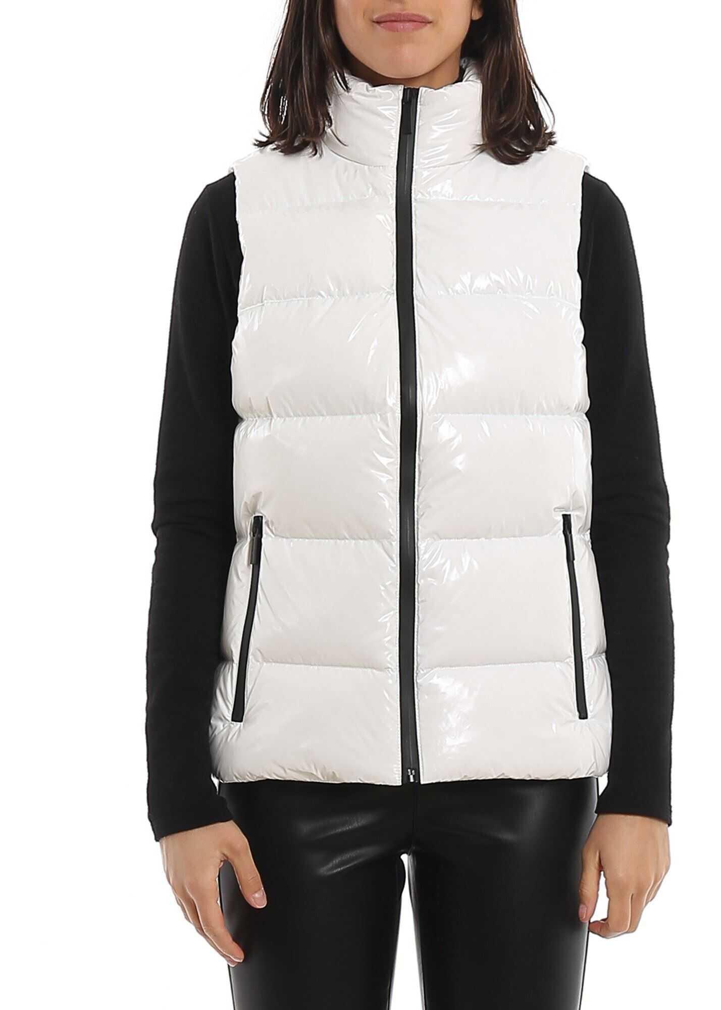 Michael Kors Sleeveless Padded Jacket White