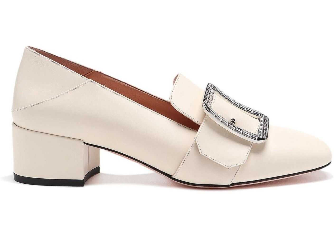Bally Janelle Crystal Loafers Style Pumps Cream