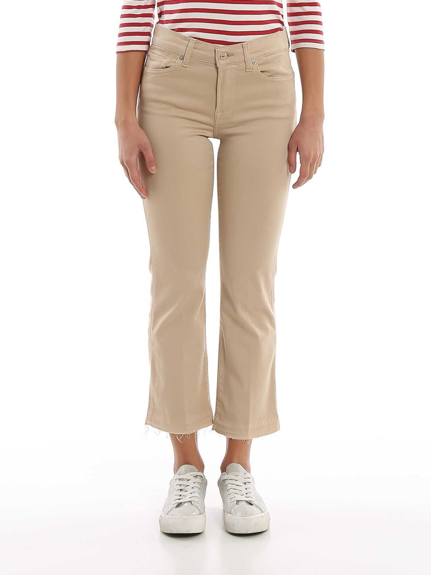 7 For All Mankind The Ankle Flare Jeans Beige