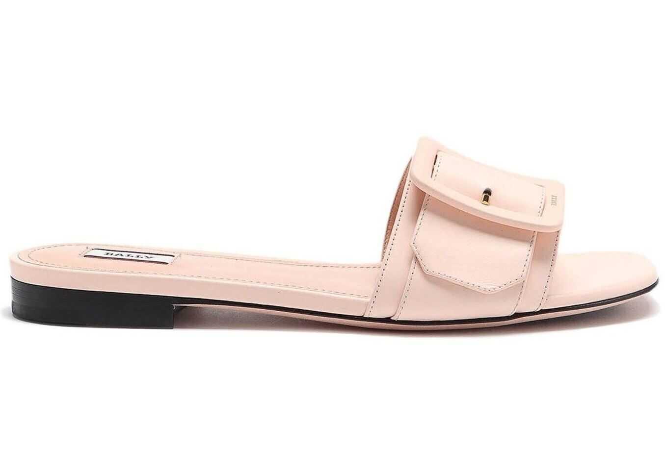 Bally Janna Pink Leather Slide Sandals Pink