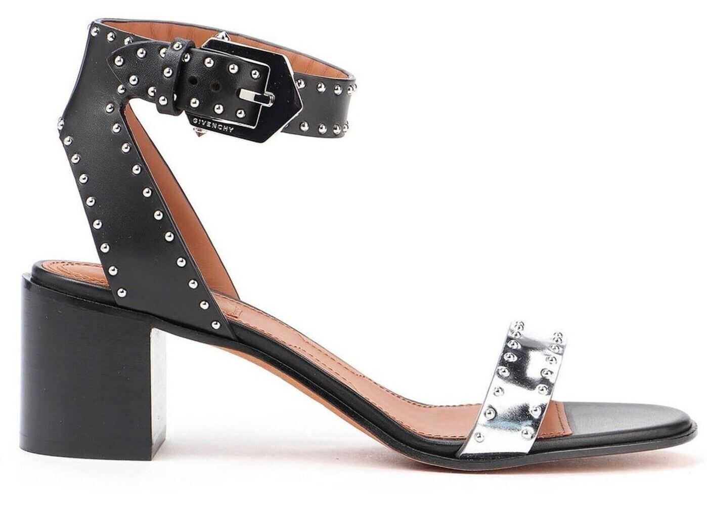 Givenchy Studded Bicolour Leather Sandals Black