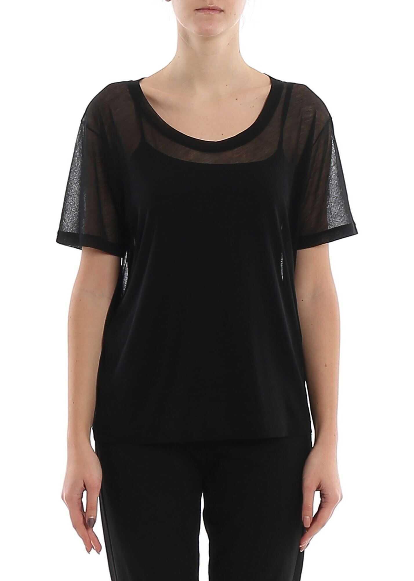 Saint Laurent Black Lightweight Cotton T-Shirt Black