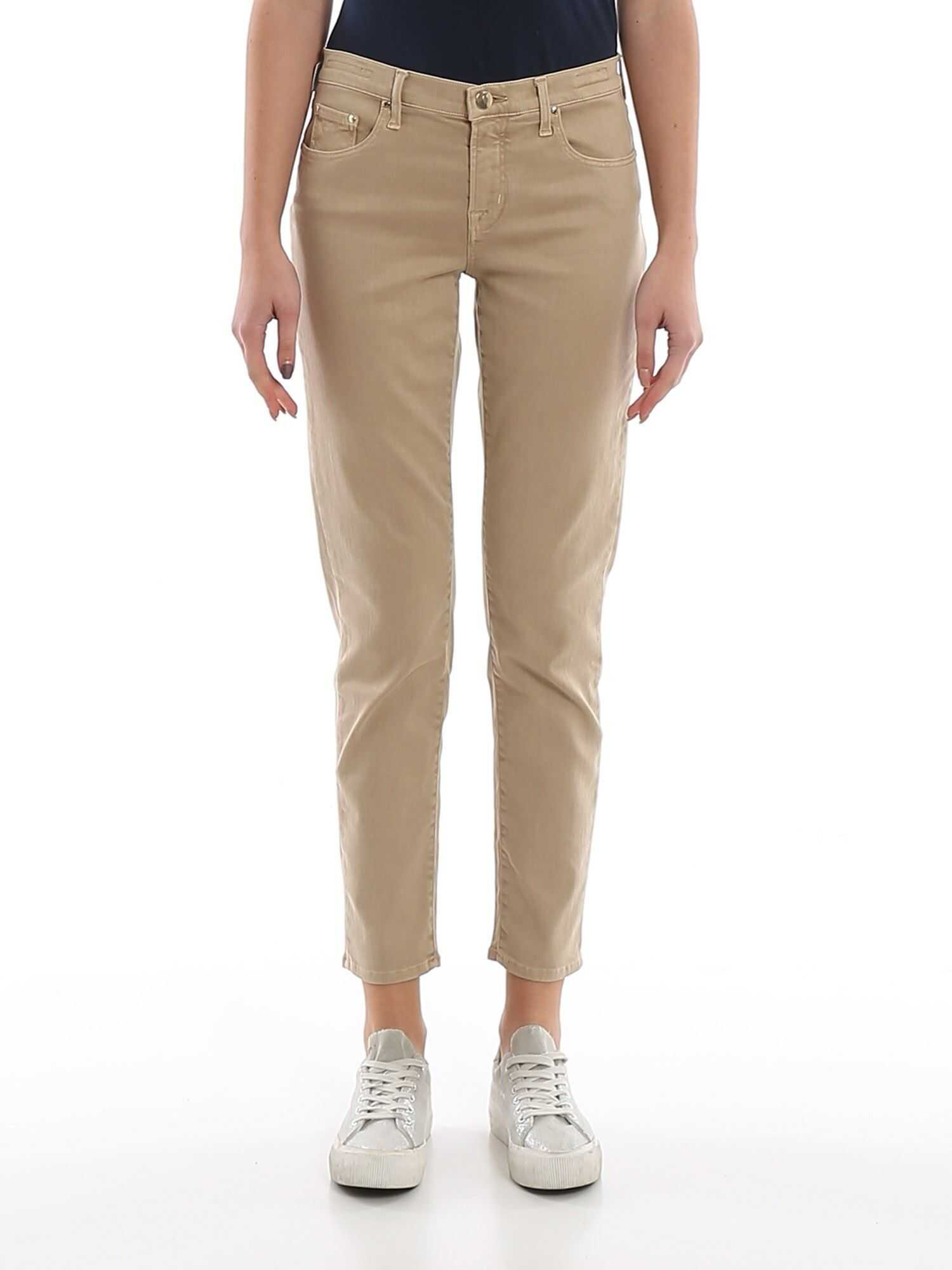 Jacob Cohen Kimberly Straight Leg Jeans Beige