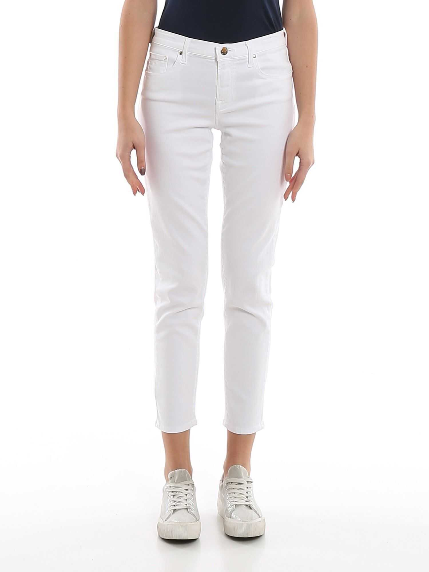 Jacob Cohen Kimberly White Straight Leg Jeans White