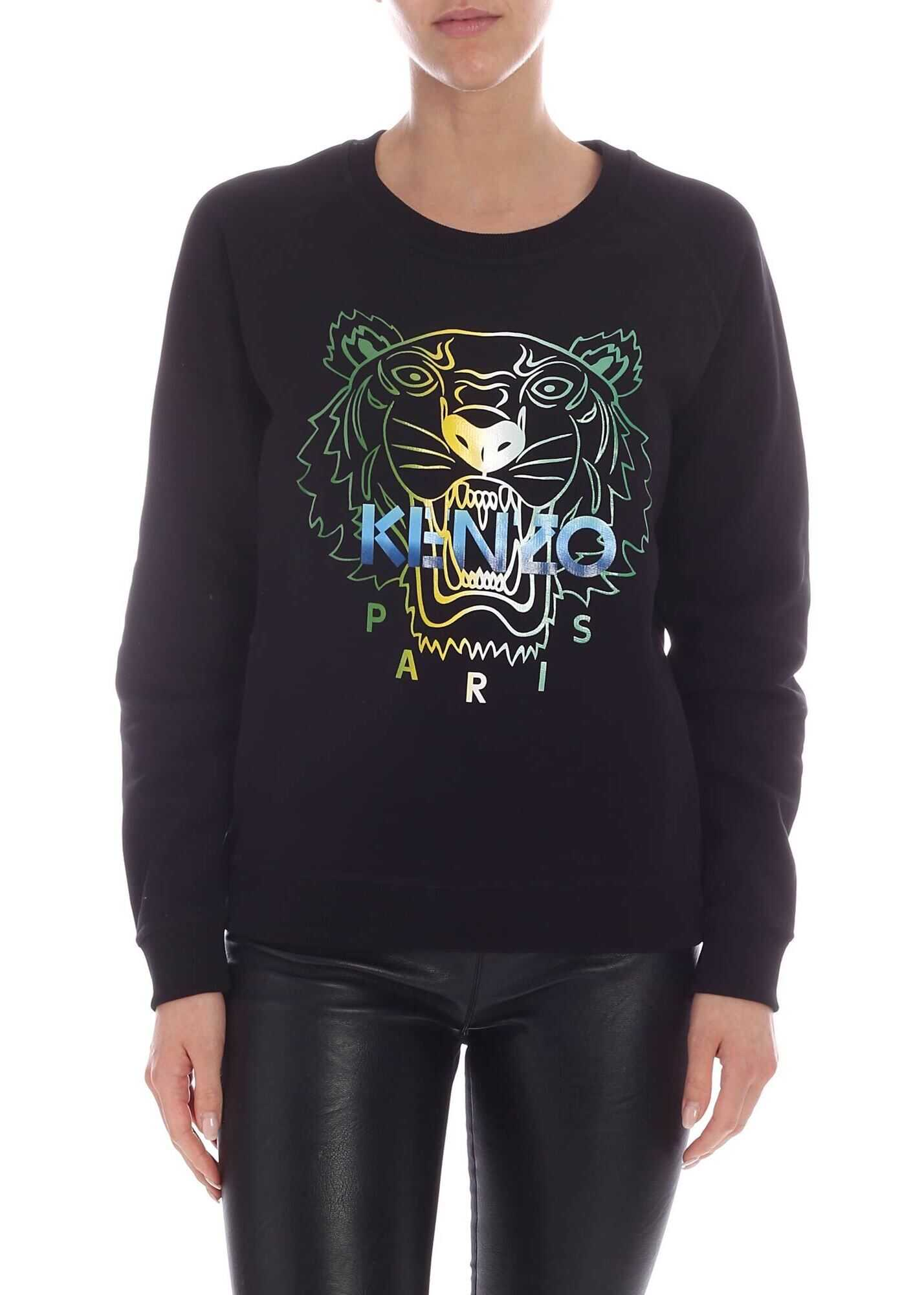 Kenzo Tiger Sweatshirt In Black Black