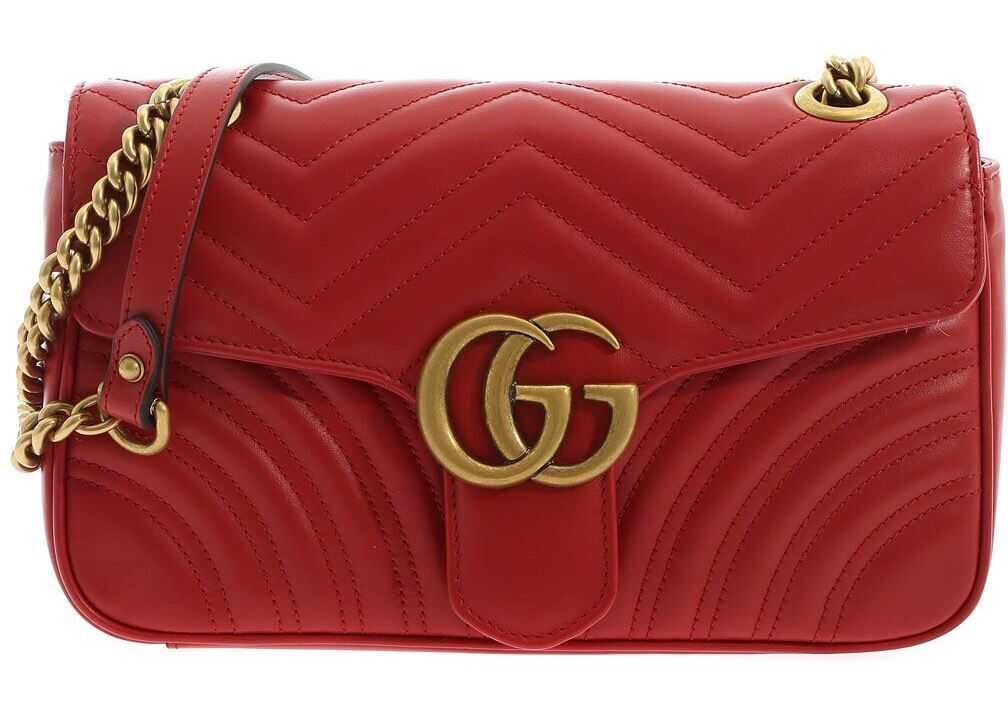 Gucci Gg Marmont Shoulder Bag In Red Red