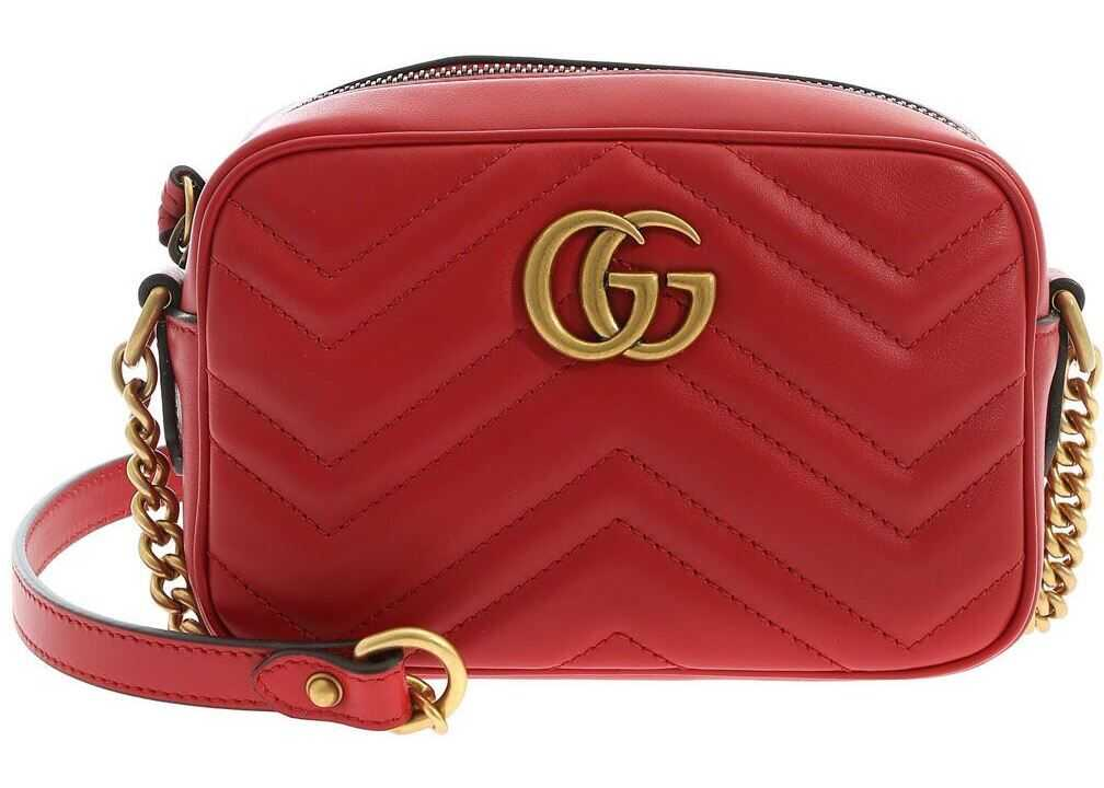 Gucci Gg Marmont Mini Bag In Red Red