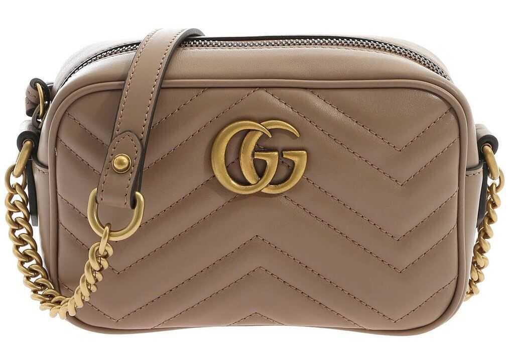 Gucci Gg Marmont Mini Bag In Dove Grey Color Grey