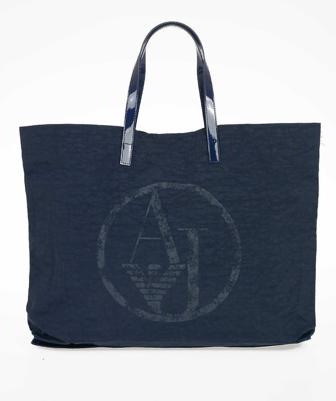 Armani ARMANI JEANS Stretch Cotton Shopping Bag BLUE