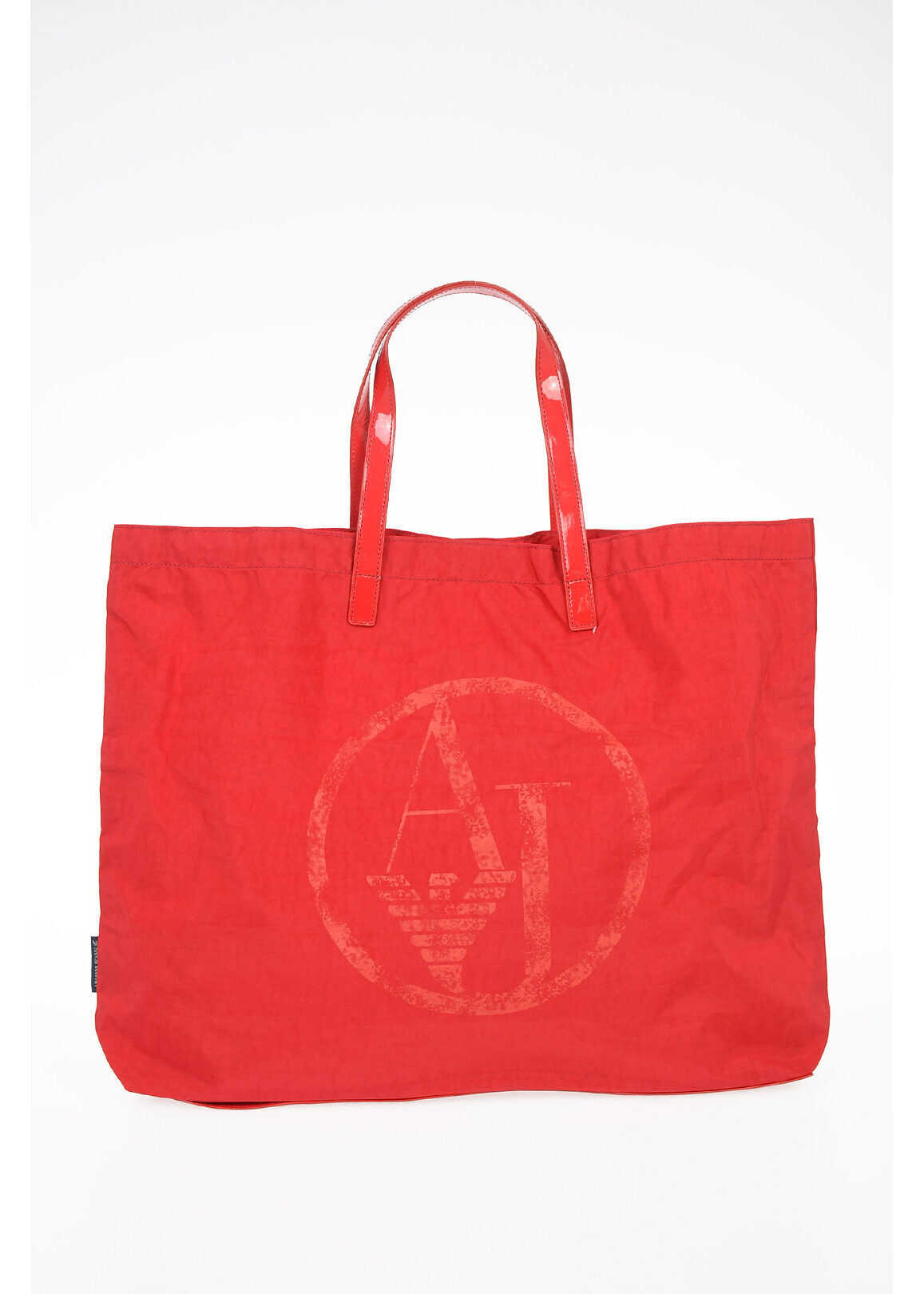Armani ARMANI JEANS Stretch Cotton Shopping Bag RED