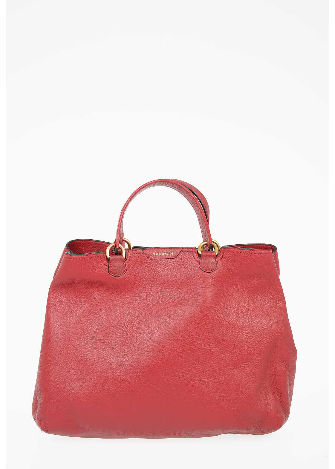 Armani EMPORIO Leather Shopping Bag RED