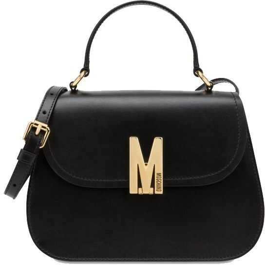 Moschino Leather Handbag BLACK
