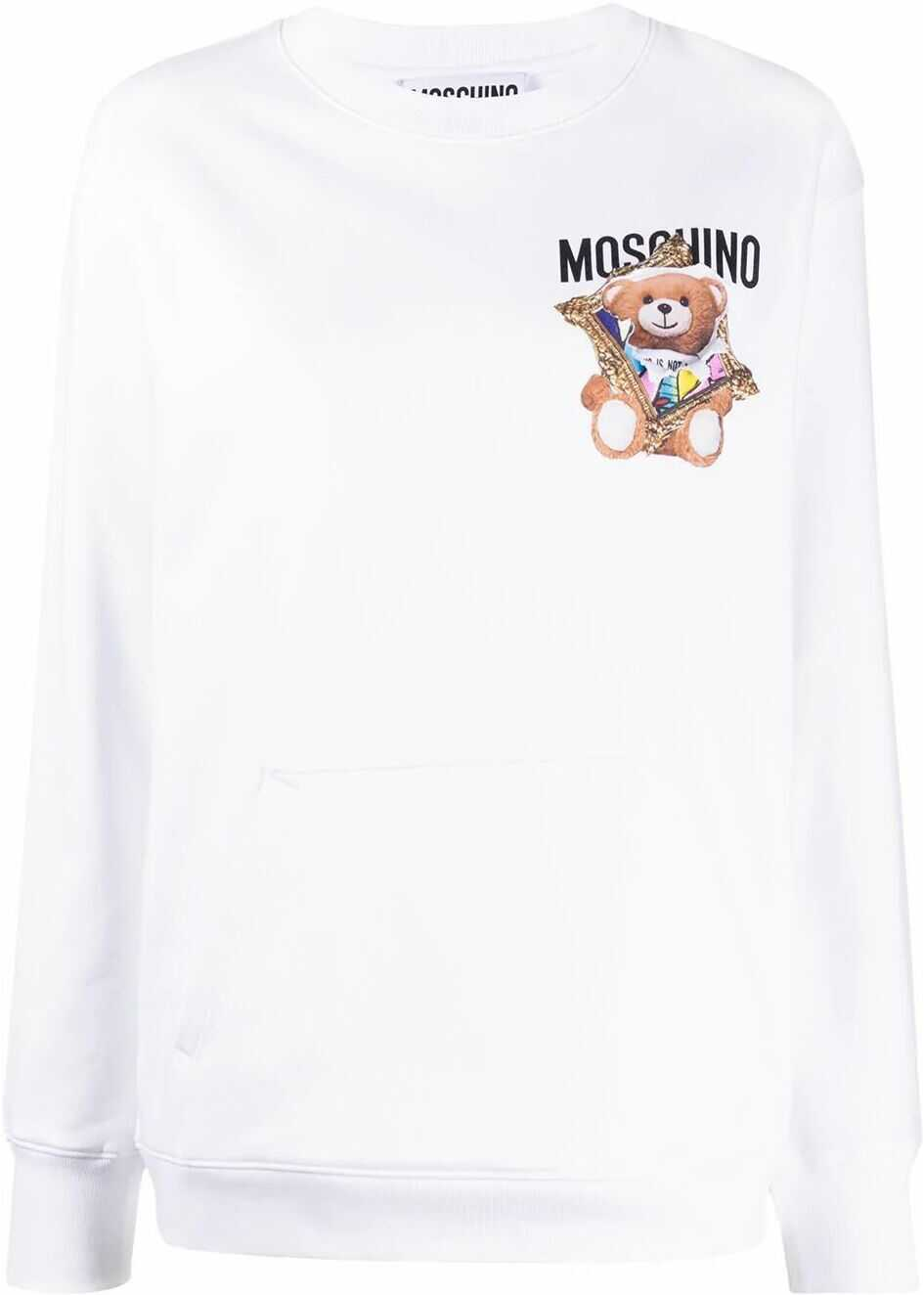 Moschino Cotton Sweatshirt WHITE