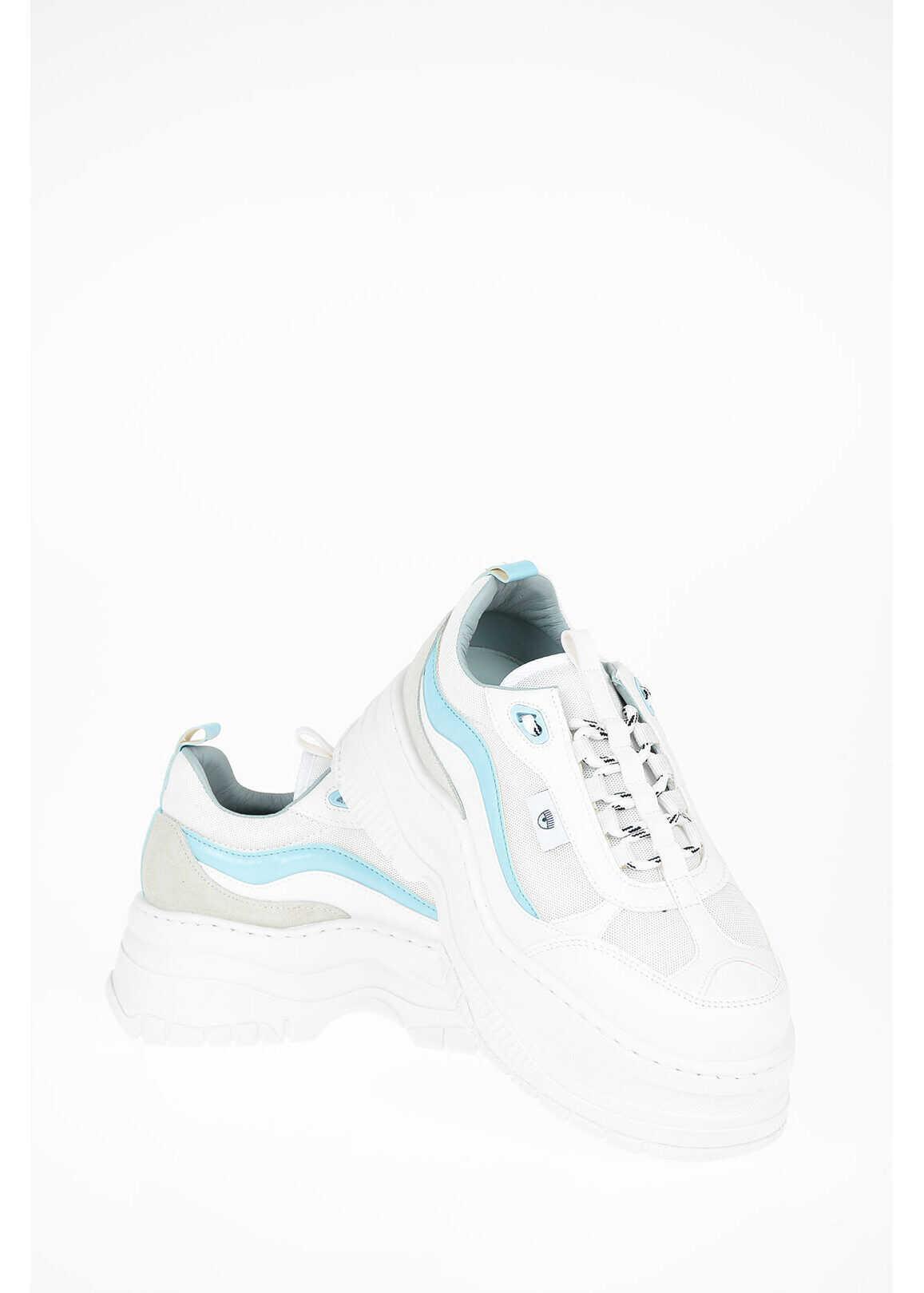 Chiara Ferragni Chunky Sneakers with Tank Sole LIGHT BLUE