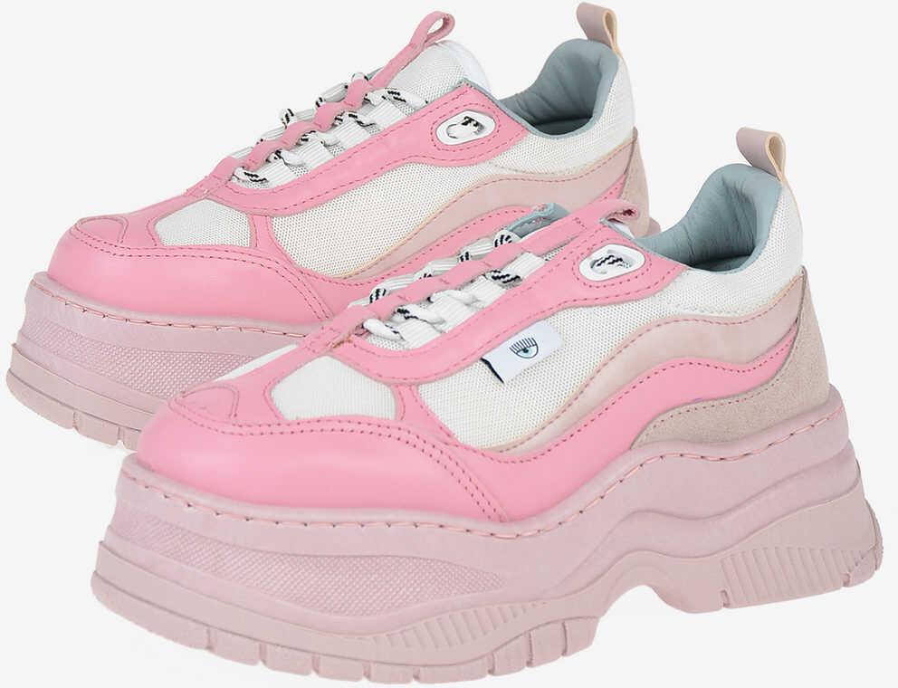 Chiara Ferragni Chunky Sneakers with Tank Sole PINK