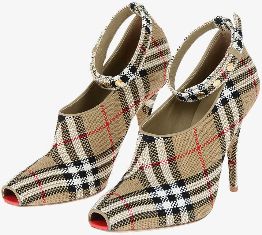 Burberry Checked BLYTH Open Toes 11 cm BEIGE