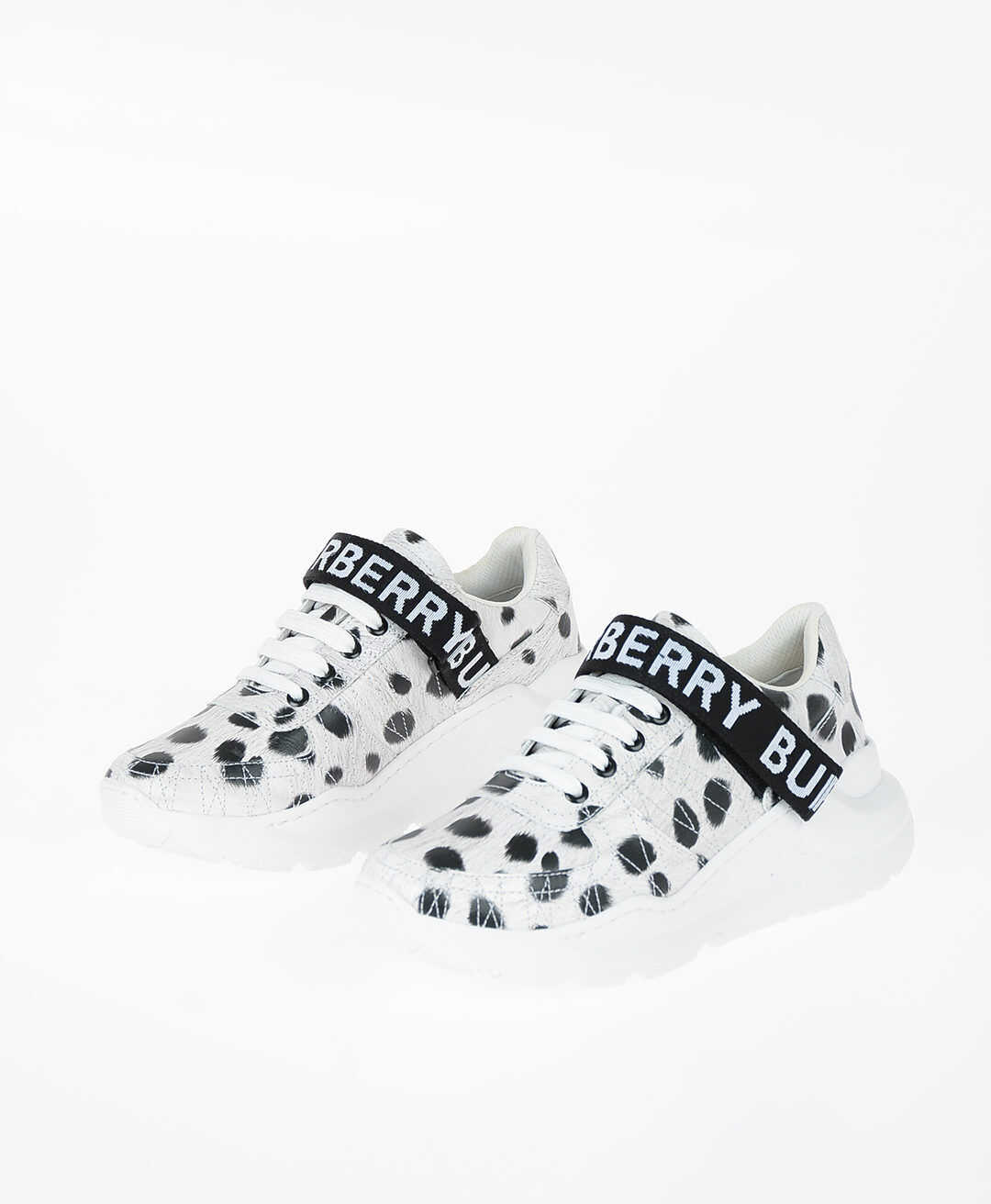 Burberry Animal Printed RONNIE ZIG Sneakers BLACK & WHITE