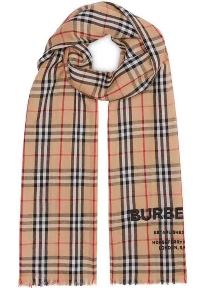 Burberry Cashmere Scarf BEIGE