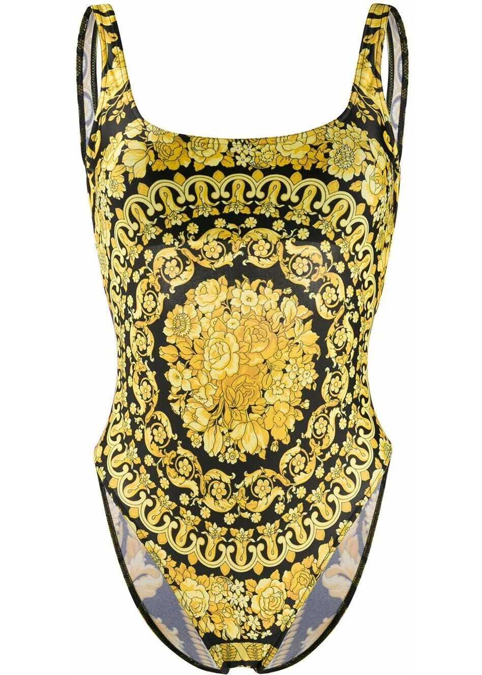 Versace Polyester One-Piece Suit GOLD