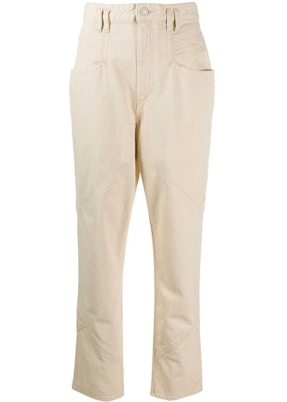 Isabel Marant Cotton Jeans BEIGE
