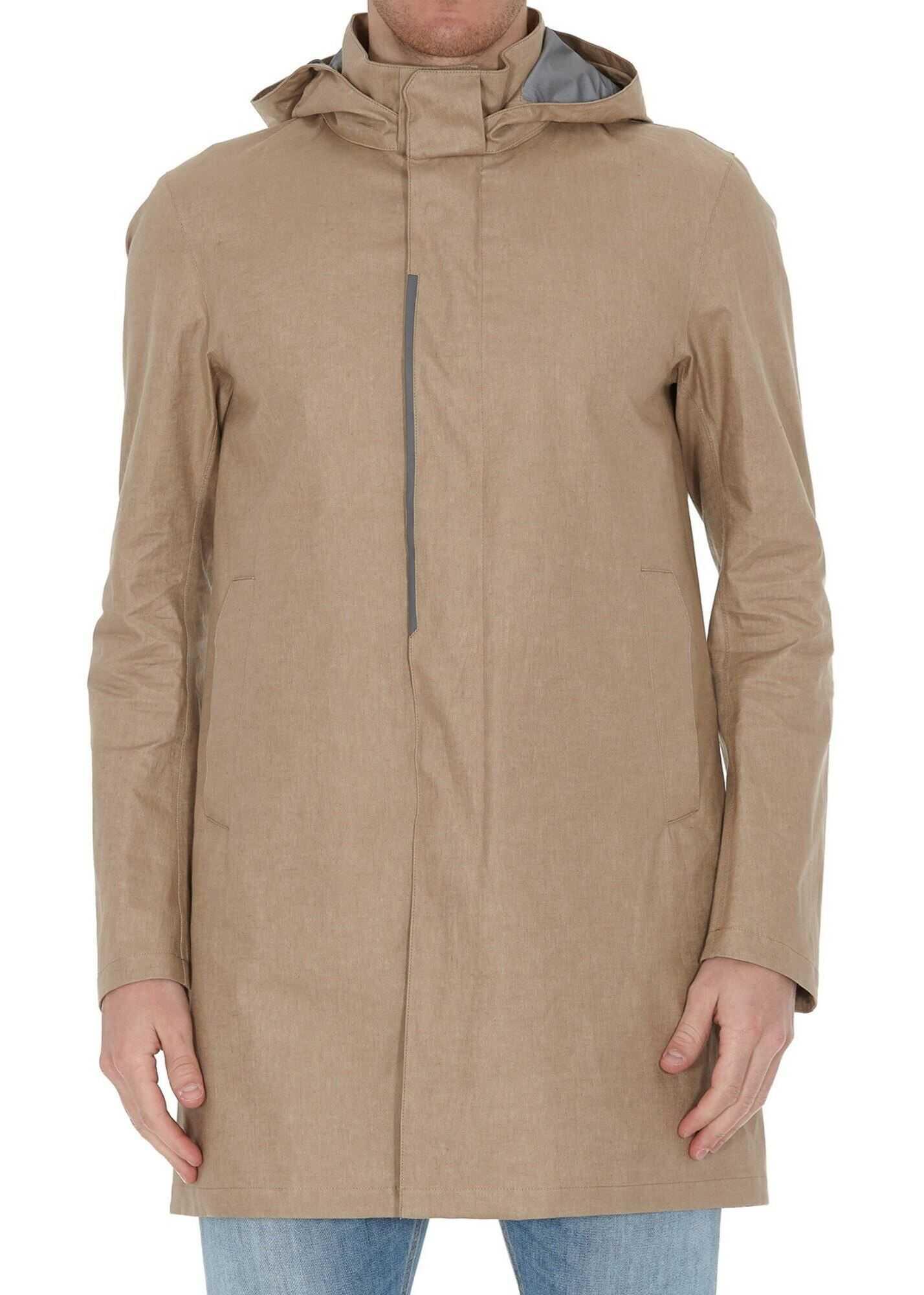Herno Laminar Raincoat In Beige Beige imagine
