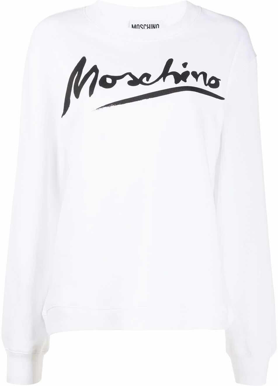 Moschino Cotton Sweatshirt WHITE