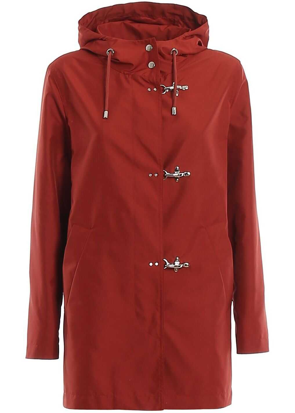 Fay Polyester Outerwear Jacket BURGUNDY