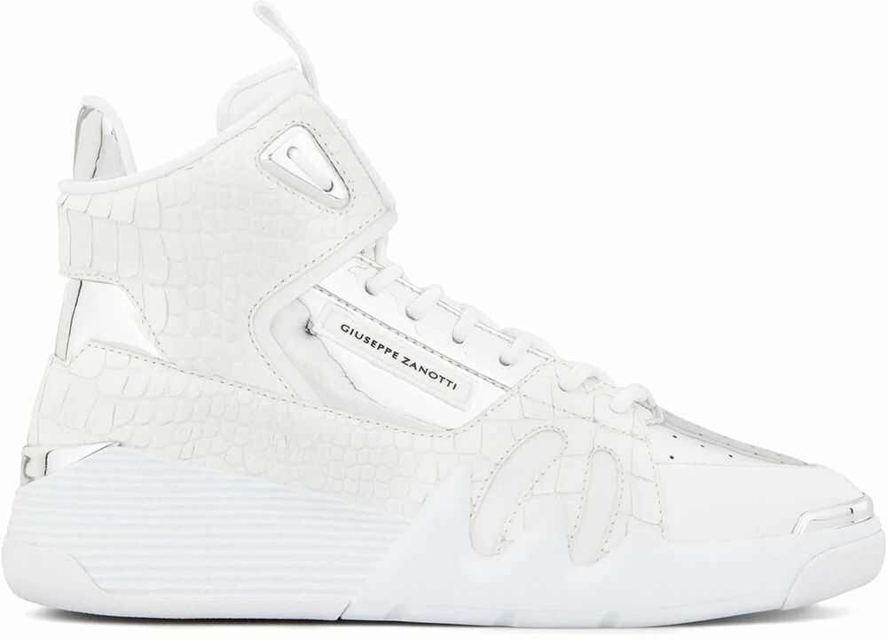 Giuseppe Zanotti Leather Hi Top Sneakers WHITE