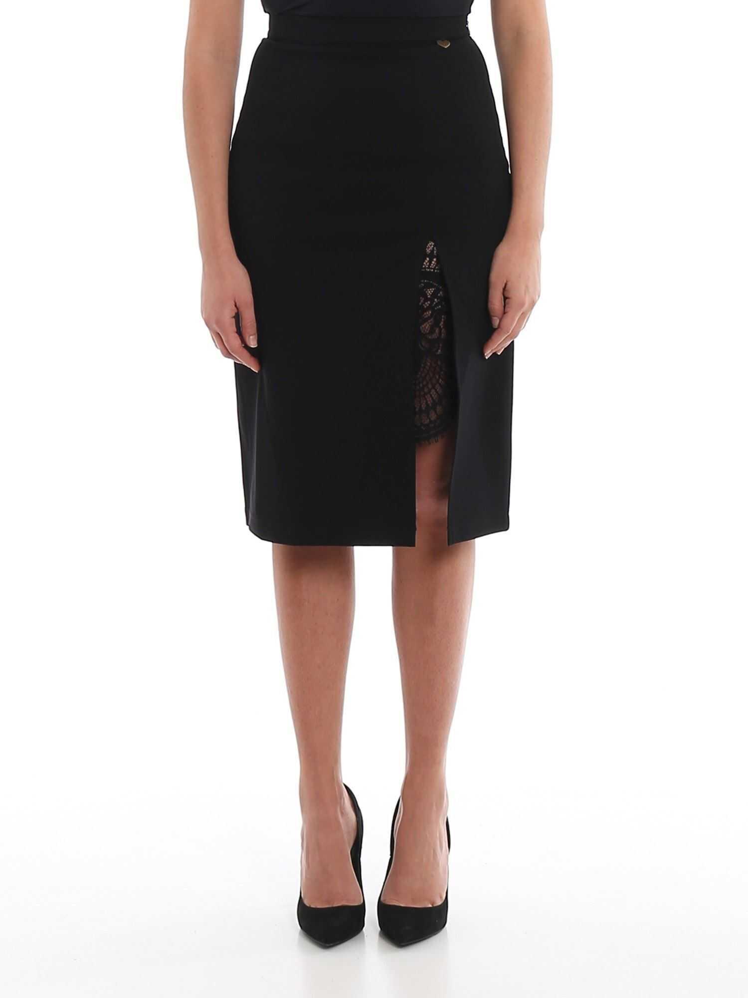 Twin-set Simona Barbieri Lace Detailed Skirt Black