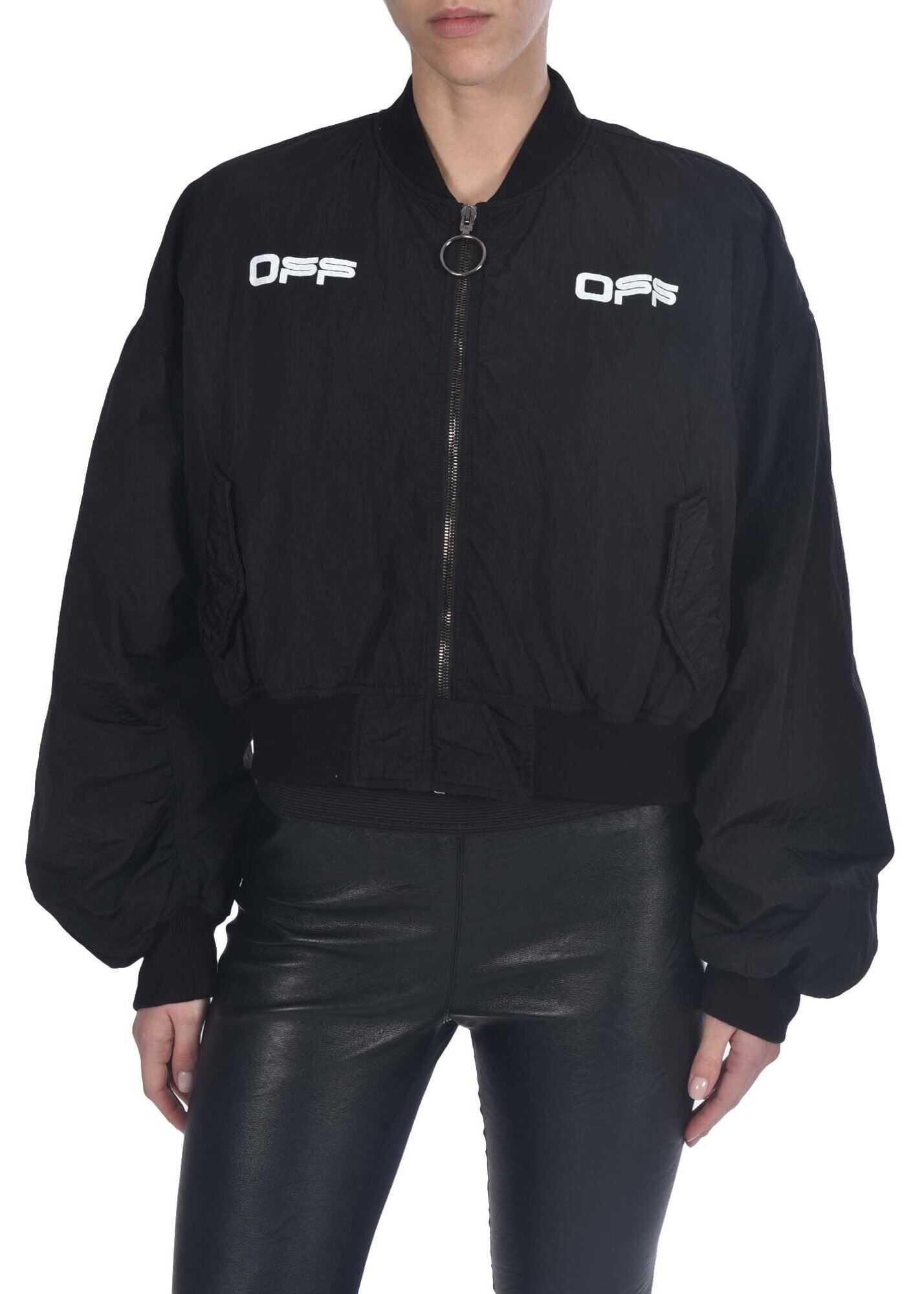 Off-White Cropped Jacket In Black Black