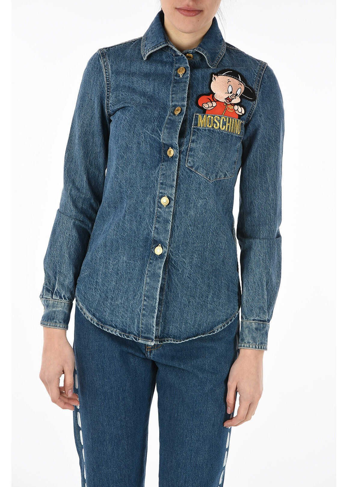 Moschino COUTURE! LOONEY TUNES denim jacket BLUE