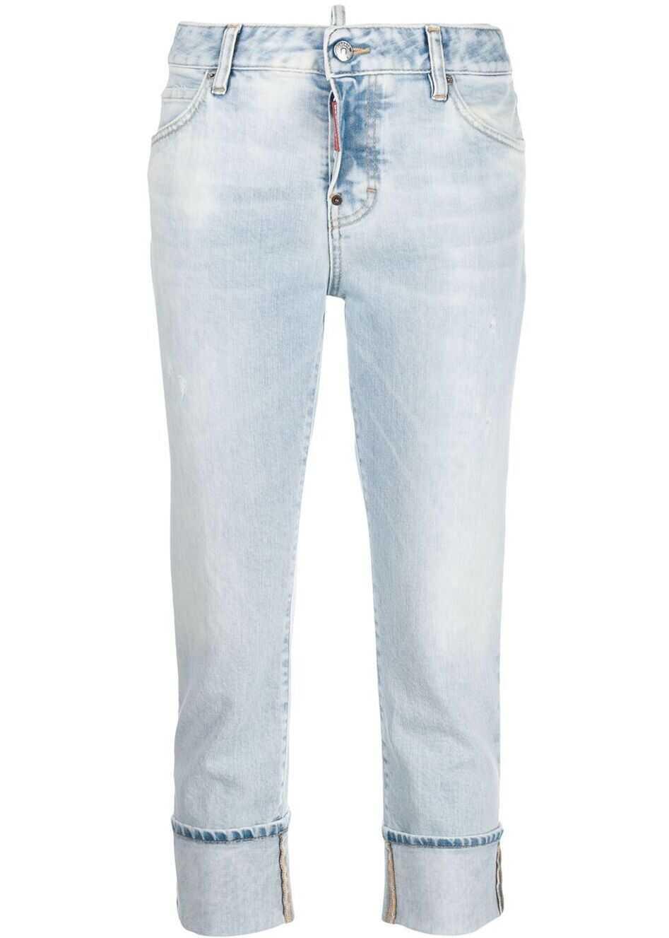 DSQUARED2 Cotton Jeans LIGHT BLUE