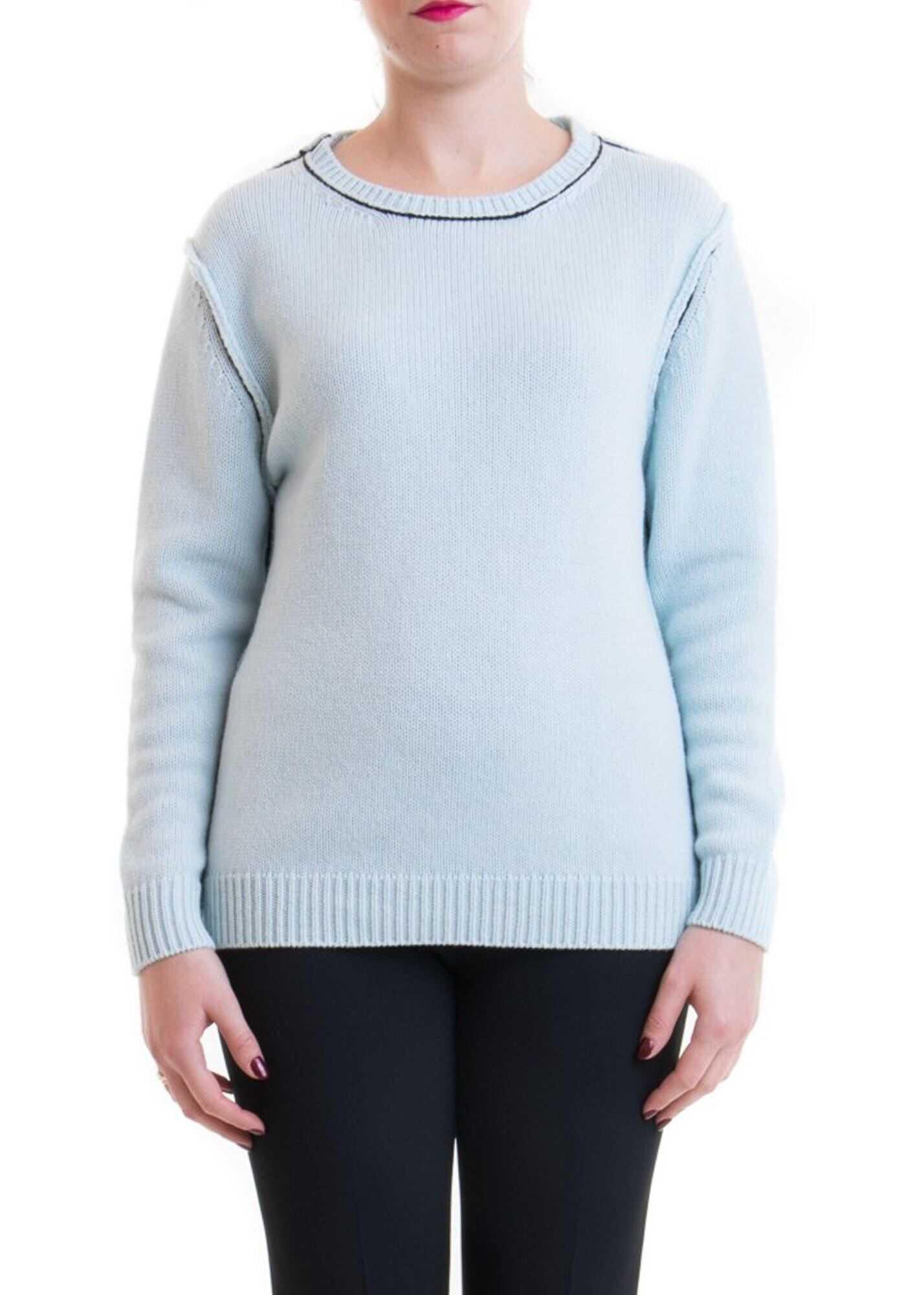 Blumarine Contrasting Piping Sweater Light Blue