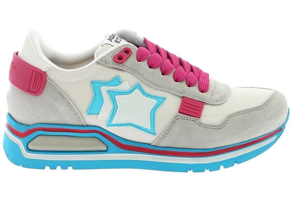 Atlantic Stars Suede Sneakers WHITE