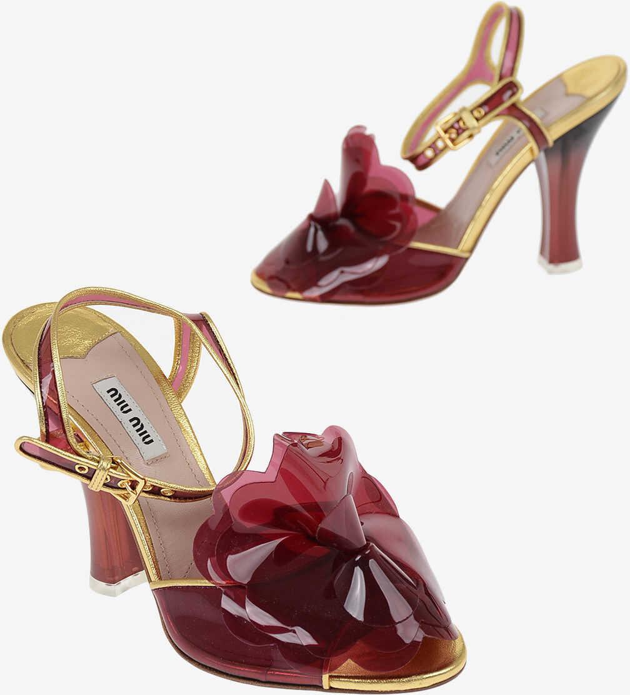 Miu Miu Sandals with Vinyl Details 11 cm RED