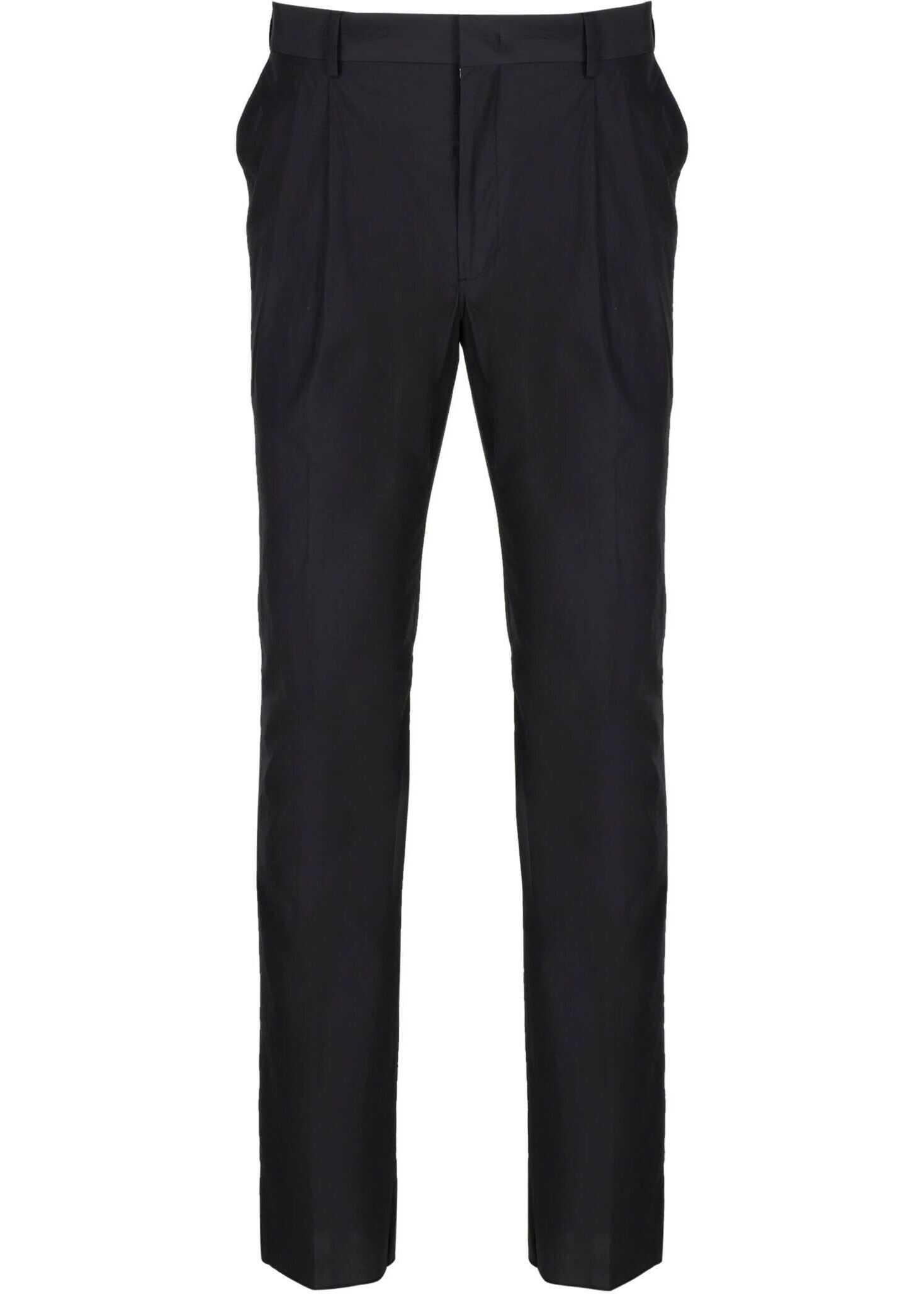 Fendi Cotton Pants BLACK