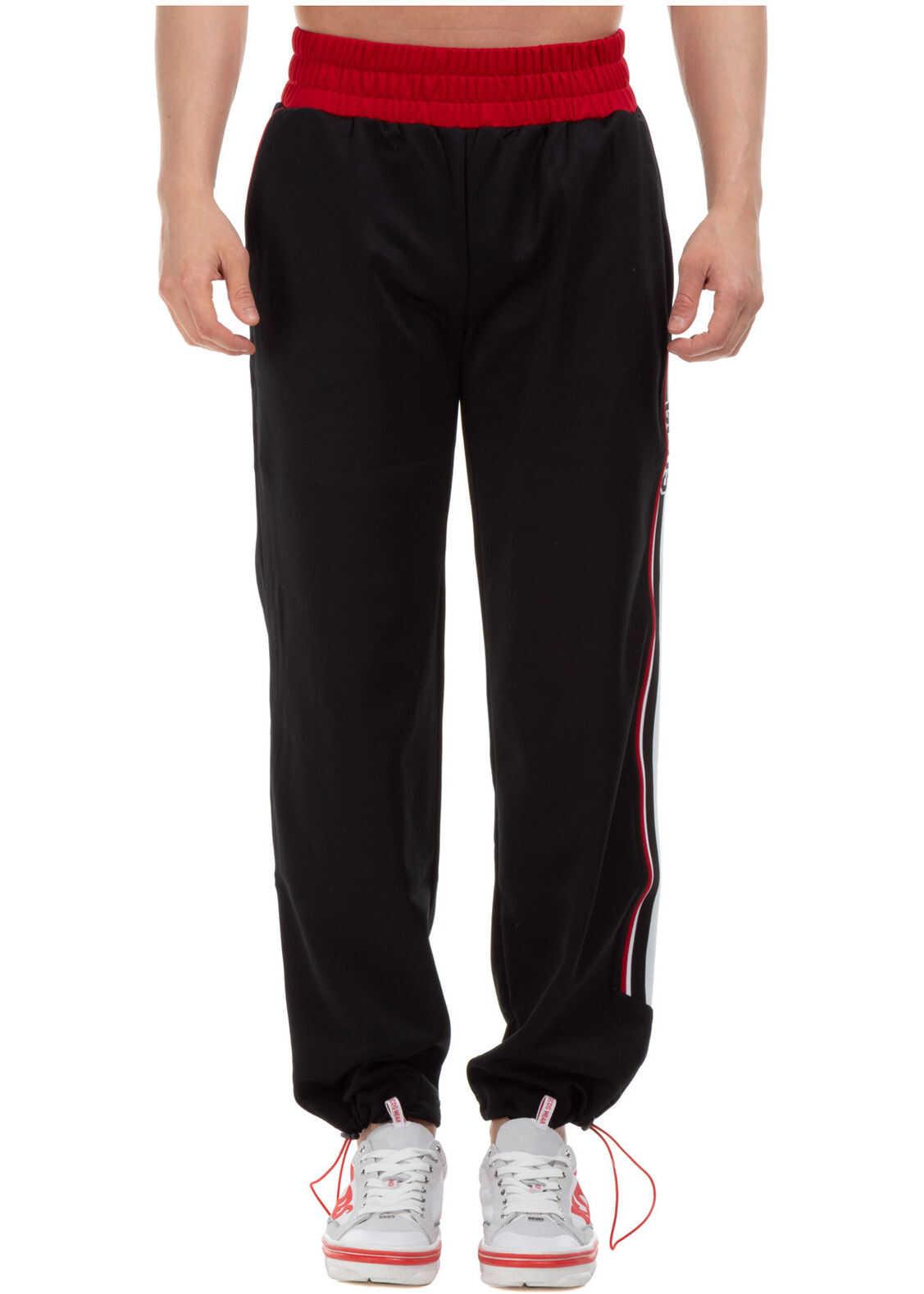 GCDS Tracksuit Trousers Black imagine