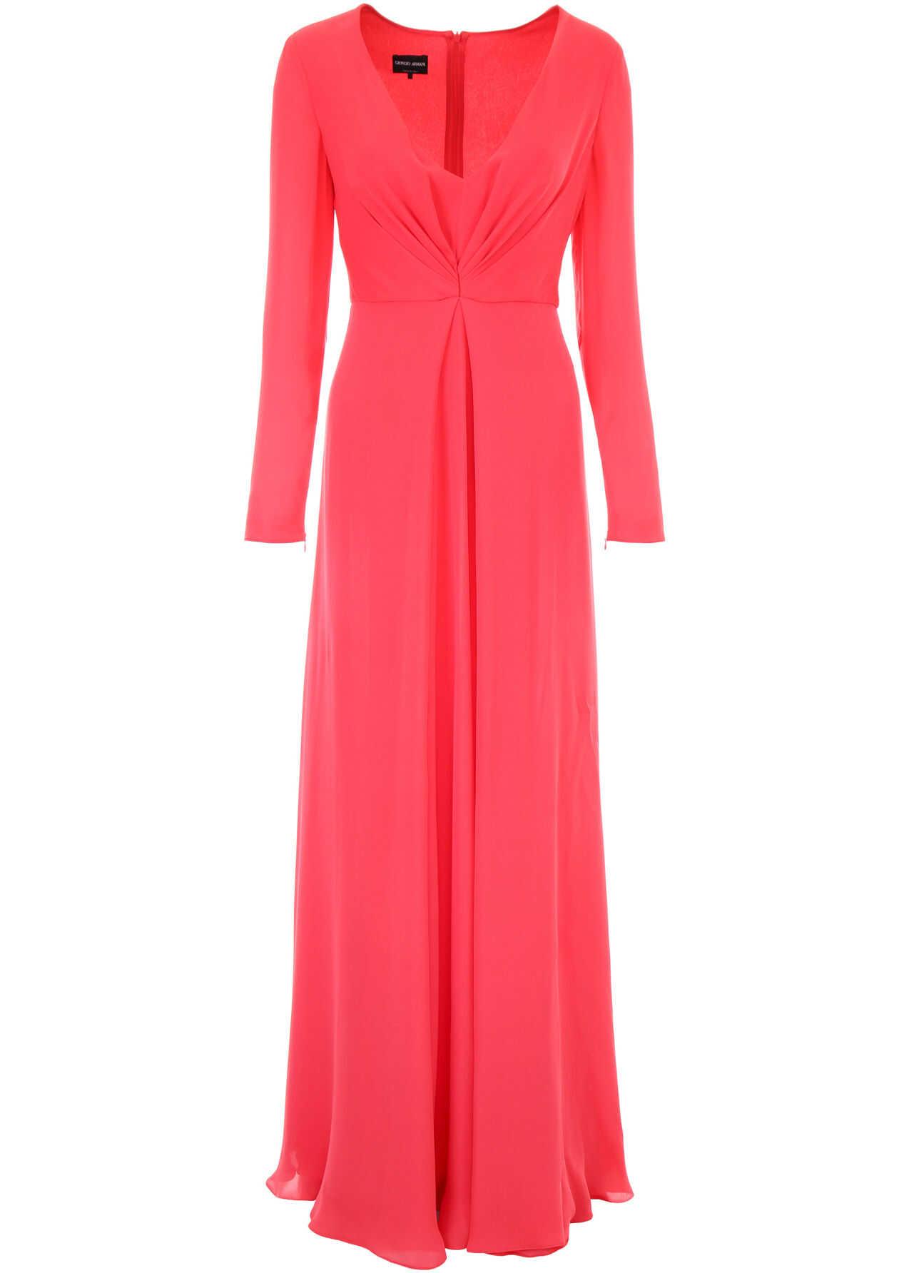 Giorgio Armani Long Silk Dress ROSSO