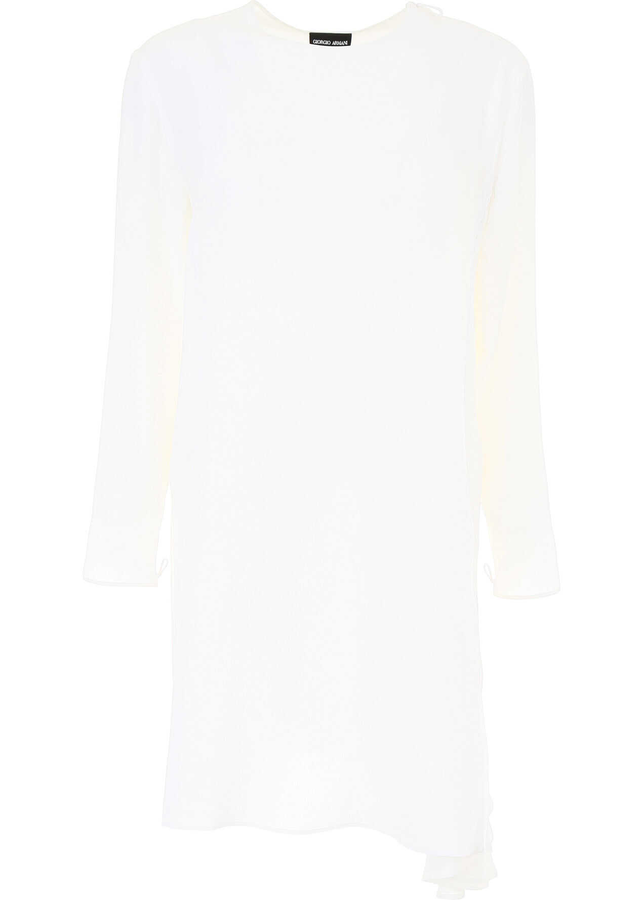 Giorgio Armani Silk Tunic Shirt BIANCO